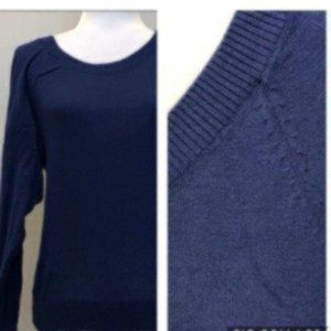 Victoria's Secret Navy Fitted Thin Sweater
